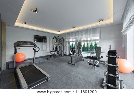 Home Gym In Luxury Villa House