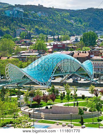 Famous Peace Bridge, Tbilisi, Georgia