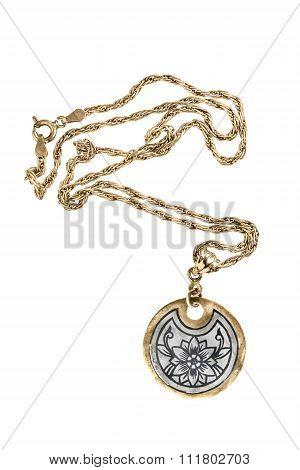 Medallion On White