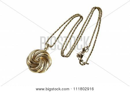 Gold Medallion Isolated