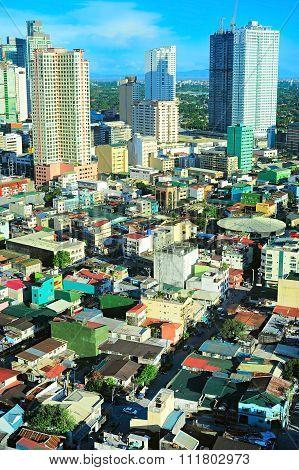 Manila Architecture. Aerial View