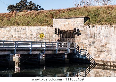 Bridge at Fort Monroe in Hampton, Virginia
