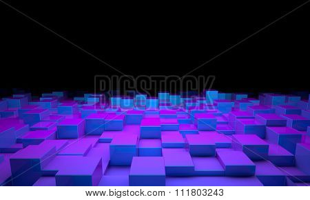 3d image of cubes geometric background