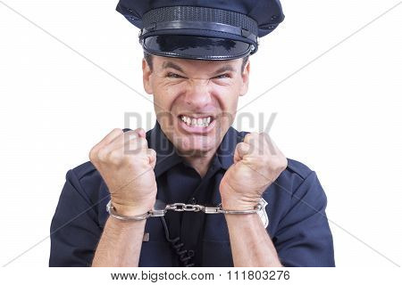 Handcuffed Police Officer