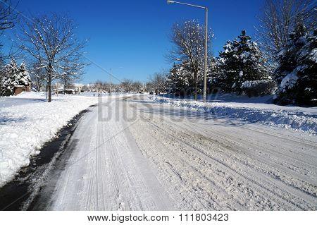 Street after a Heavy Snowfall