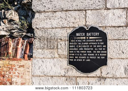 Water Battery at Fort Monroe