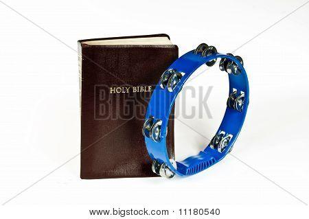 bible and tambourine