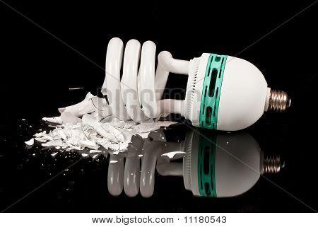 shattered cfl bulb