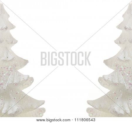 Background with white christmas tree