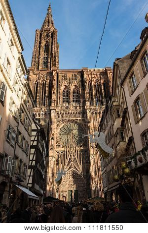 The Cathedral Notre Dame Of Strasbourg.
