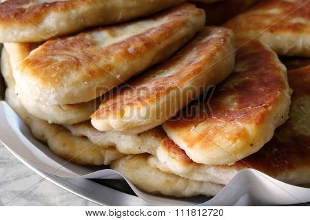 Patties in plate, close-up