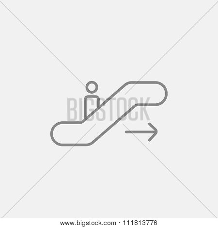 Gangway of the plane line icon for web, mobile and infographics. Vector dark grey icon isolated on light grey background.