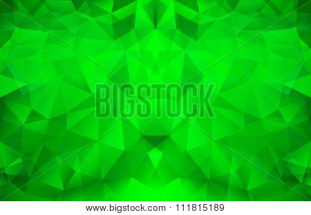 Bright Green Polygonal Pattern