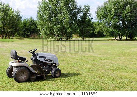 lawn mower on field