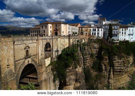 Old Bridge In Ronda  City Andalusia