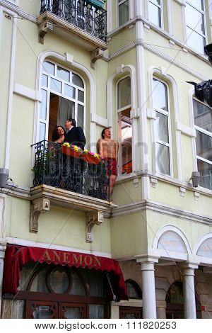 Filming adultery, Istanbul, Turkey