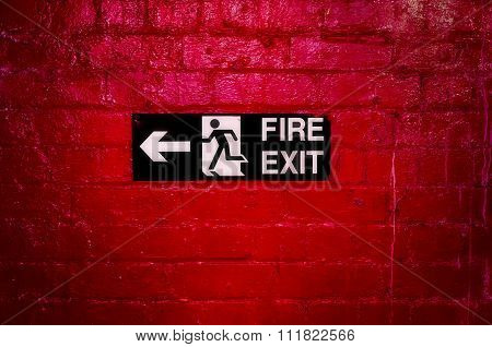 Fire exit.
