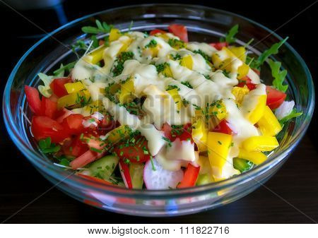 Fresh salad.