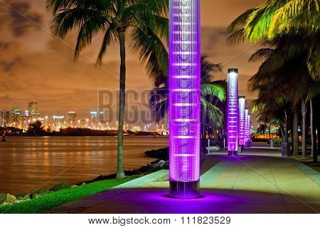 Miami BEach Florida at night