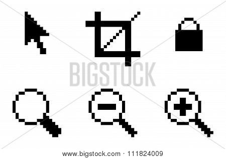 Symbols Of Computer Graphic Tools
