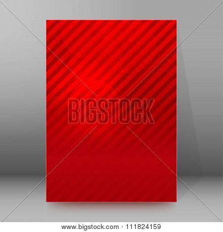 Red Striped Background Brochure Cover Page Layout