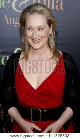 Meryl Streep at the Los Angeles screening of