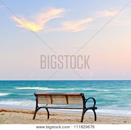 Bench by the beach