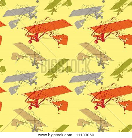seamless pattern with isolated gliders
