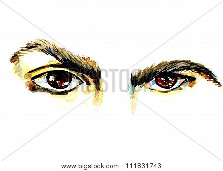 Attractive Hazel Male Eyes