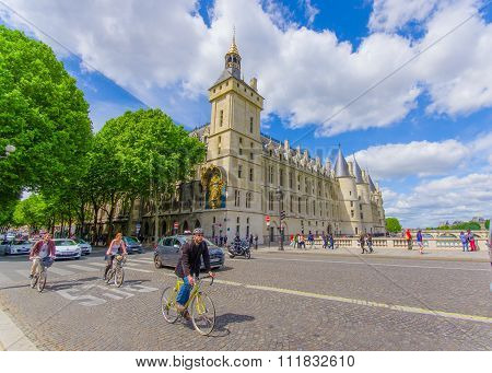 The Conciergerie, located in the Ile de la Cite, Paris, France