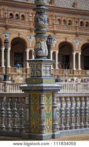 Plaza De Espana, Tile Work Details
