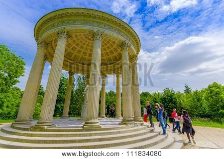 The Temple of Love, located behind Petit Trianon in Versailles, Paris, France
