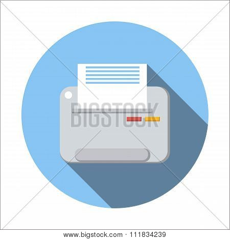Printer flat icon