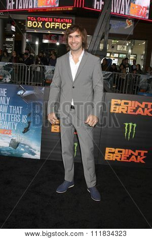 LOS ANGELES - DEC 15:  Chris Sharma at the Point Break Premiere at the TCL Chinese Theater on December 15, 2015 in Los Angeles, CA