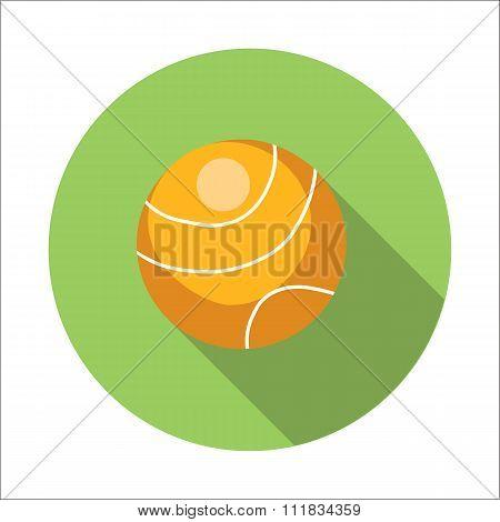 Tennis ball flat icon