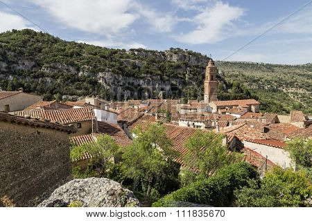 Panoramic View Of Xiva De Morella