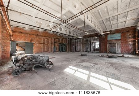 Abandoned, Empty Room Of An Industrial Building