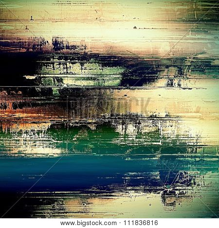 Old background or texture. With different color patterns: yellow (beige); blue; green; black