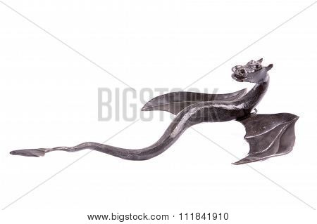Forged Dragon On A White Background