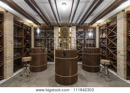 Wine Cellar In Luxury Villa