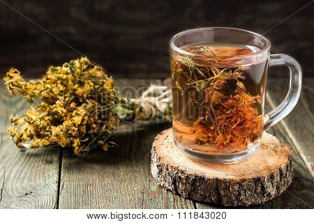 Useful Tea With Dried St. John's Wort