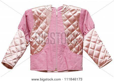 Pink Feminine Childs Short Jacket