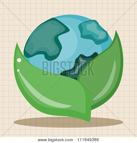 Environmental Protection Concept Theme Elements; Protect Our Environment, Protect Our Planet