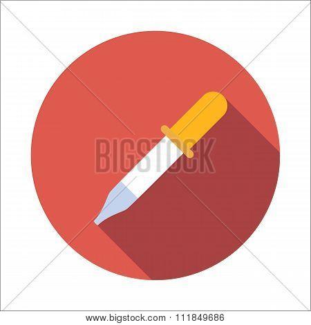 Pipette flat icon