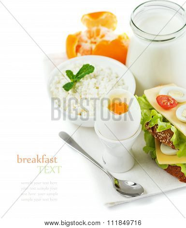 Delicious Healthy Breakfast Of Fresh Products