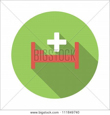 Hospital bed flat icon