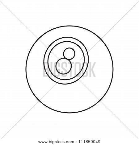 Eightball line icon