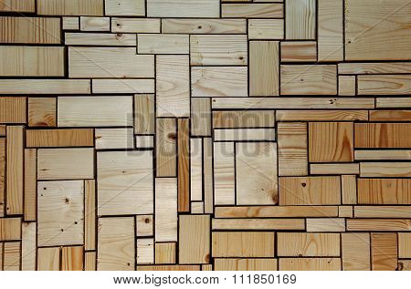 Imagination - Woodwork And Carpentry Background - Wooden Blocks.