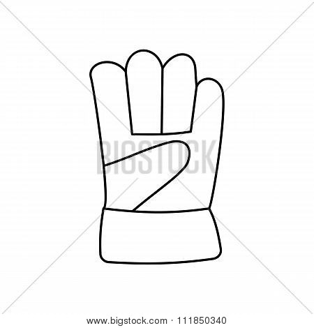 Gauntlet line icon