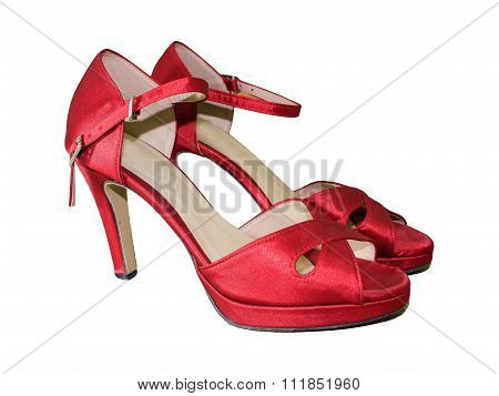 Red High Heel Women Shoes